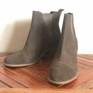 TOMS Esme Olive Suede Boots
